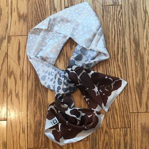Anne Klein 100% Silk Animal Print Scarf